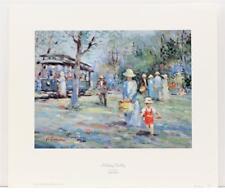 Signed Numbered Vtg Vintage L Gordon French Impressionist Garden Lithograph #60