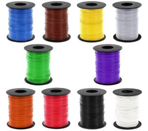 Braid Cable 0,14mm ² Liy Copper Stranded Wire 100 Meter On Coil 10 Colours