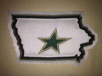 Rare Iowa Stars AHL Hockey Jersey Shoulder Patch Crest White C