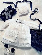 """Baby's Matinee Giacca Set Knitting Pattern 14"""" -20"""" 4 strati 131"""