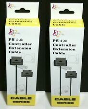 TWO  6 FT CONTROLLER EXTENSION CABLES  FOR PLAYSTATION 1 PS1 PS One NEW in BOXES