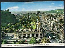 View of Royal Scottish Academy & Princess Street, Edinburgh. Posted 1980