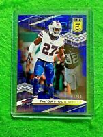 TRE'DAVIOUS WHITE PRIZM BLUE CARD SP #/10 BILLS 2020 PANINI DONRUSS ELITE PRIZM