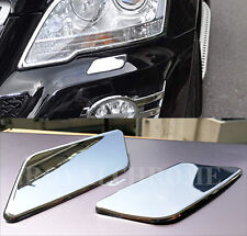 x2 Headlight Washer Caps ROYAL CHROME Mercedes Benz Facelift W164 ML Class 08-11