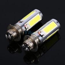 2x 6000K White H6M COB LED 12V Motorcycle ATV Headlight Fog Light PX15d P15D25-1