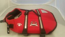 Paws Aboard Dog Life Jacket Red Lifeguard Neoprene Small  15-20 LB S