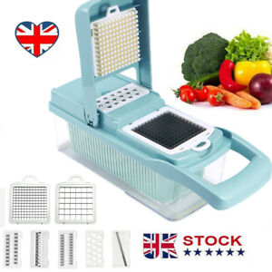 Kitchen Food Vegetable Salad Fruit Peeler Cutter Slicer Dicer Chopper Tool UK