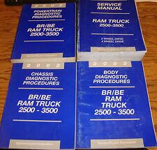 2002 Dodge Ram Truck 2500 3500 Shop Service Manual + Diagnostic Procedures Set