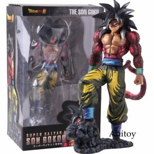 Dragon Ball Son Goku Super Saiyan 4 Manga Dimensions Version Action Figure Toy