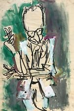 Cuban Art. Caricature by Juan David. Raul Roa, 1967. Mixed media on paper.