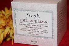 FRESH ROSE FACE MASK HYDRATES TONES FULL SIZE 3.3 OUNCES IN BOX AUTHENTIC