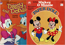 NOS Lot of 2 1983 Whitman Mickey & Minnie and Daisy & Donald Paper Dolls MS2194