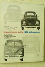 1962 VW VOLKSWAGEN IMPROVEMENTS US DEALER SALES ORDER SHEET BK3V