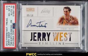 2012 National Treasures Timeline Jerry West PATCH PSA/DNA 10 AUTO /10 PSA 6 EXMT