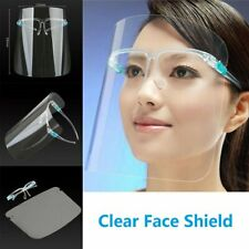 Pack of 4 Clear Plastic Face Shield With Glasses Safety Face Protection Cover