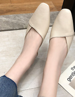 Ladies Casual Slingback Mule Shoes PU Leather Fashion Chunky Heels Pumps Size