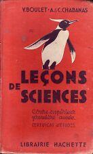 Scolaire ! Leçons de sciences ! Cours supérieur première année ! Hachette ! C27