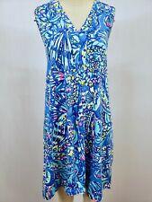 "New Lilly Pulitzer Women's Brilliant Blue ""Ceviche"" Amina Swing Dress, XL"