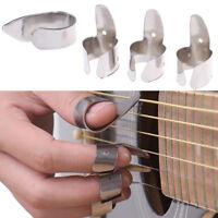4pcs accessoires de guitare finger picks plectrums outils de glissière en métLTA
