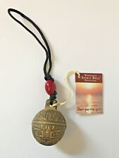 Protection Bell - Woodstock Chimes Spirit Bell - Red Bead and Brass Bell Chime