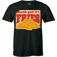 Thank God French Fries Printed T Shirt Mens T-shirt Happy Fry Day Tee Food Lover