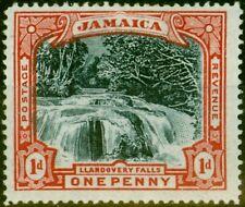 More details for jamaica 1901 1d slate black & red sg32a blued paper fine mnh