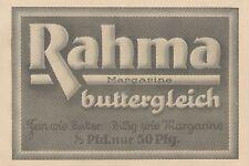 Y4121 RAHMA Margarine buttergleich - Pubblicità d'epoca - 1925 Old advertising