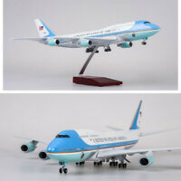 Diecast 1/150 US Air Force One Airplane Model 47CM W Undercarriage& Voice Lamps