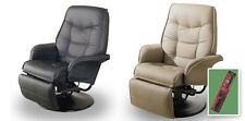 C9 TAN OR BLACK SWIVEL SEAT RECLINER CAPTAINS CHAIR RV TRAVEL TRAILER BOATHOUSE