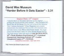 (EA9) David Wax Museum, Harder Before It Gets Easier - DJ CD
