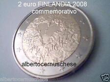 2 euro 2008 fdc FINLANDIA cuore heart herz Finlande Finland Finnland Финляндия