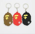 A Bathing Ape Logo keychain BAPE Supreme Pendant Key Chain Ring NEW