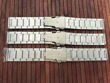 3 good metal bands - stainless steel 22 mm - butterfly clasp
