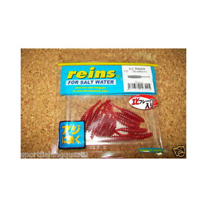 "Worms Soft Appâts REINS Aji Ringer 1.5 "" 4cm Coul R310 Strawberry 15PZ"