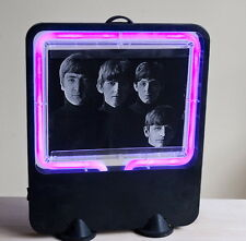 Beatles Neon Sign Blue-Purple Photo Display Lamp 8x10