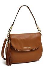 Michael Kors LG Bedford Tassel Convertible Crossbody Bag Purse NWT $398 Luggage