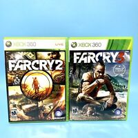 Lot of 2 Xbox 360 Far Cry 2 & Farcry 3 Game Bundle Complete w Manuals & Tested
