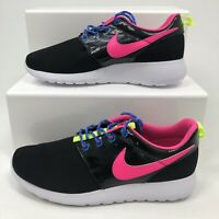 NIKE ROSHE ONE GS TRAINERS ROSHE RUN BLACK HOT PINK WOMENS GYM SHOES RRP £75