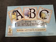 Classic Pooh - Pooh Letters & Numbers - 36 Rubber Stamps and Ink pad Set Rare