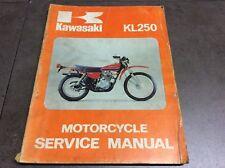 Genuine Kawasaki KL250 Motorcycle Service Shop Manual 99924-1002-01