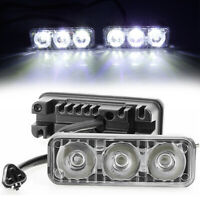 LED Daytime Running Lights Car Driving DRL Fog Lamp Light 12V Super White 3LED