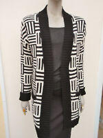 M&S Limited Collection - Womens Cream / Black Thick Cardigan - size M