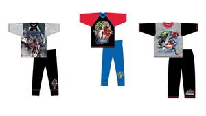 Boys Kids Marvel Avengers Long Pyjama Sets Winter PyjamasOFFICIAL MERCHANDISE