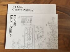 YAESU ft 857 circuit diagram 2x DIN A2 doublesided (orig)