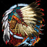 Native American Indian Chief Dream Catcher Feathers Trippy Cool T-Shirt Tee