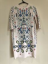 PETER PILOTTO Geometric Abstract Print Cube Crepe Dress In Pink Size 6 BNWT
