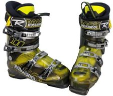 Rossignol Alias Sensor 100 Ski Boots Mondo 25.5/Mens 7.5 - Yellow/Gry/Blk - USED