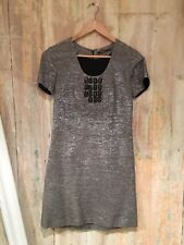 Silver grey Reiss Dress tunic dress with black bead detail. Smart formal party