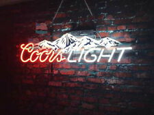 """New Coors Light Mountain Bar Light Lamp Neon Sign 24"""" With Hd Vivid Printing"""
