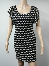NEW - Guess - Short Sleeve Knee Length Knit Cocktail Dress - Size 6 - Black $138